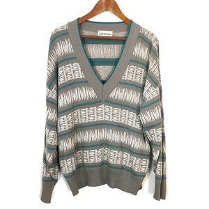 Vintage 80s 90s V-Neck Grandpa Sweater